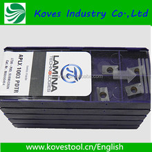 original lamina insert APLX1003 PDTR with best price milling inserts