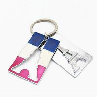 GIfts For Promotion France Eiffel Tower Key Ring Souvenir KeyChain