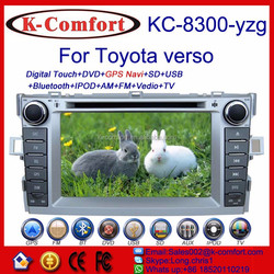 K-comfort Factory supply toyota verso navigation with bluetooth car dvd gps with GPS/IPOD/TV/BT/AM/FM/Vedio