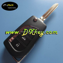 Top quality 3 buttons 433 mhz toy43 key blade no chip For before 2007 Camry and prodo for toyota smart key remote