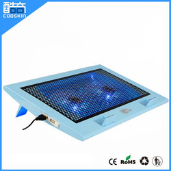 Factory price laptop cooling gel pad with double fans