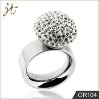 Fashion Young Little Girls Cute Diamond Finger Rings