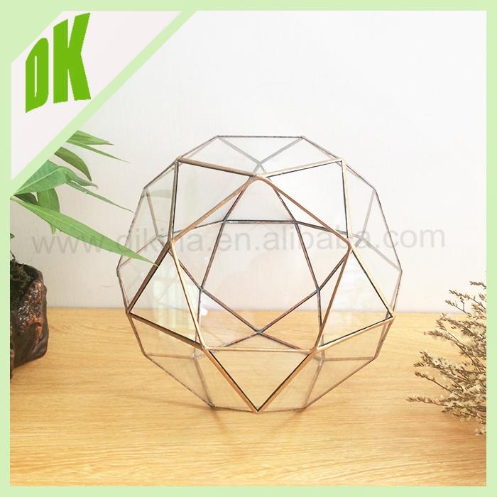 BEST SELLER>< unieke kegel driehoek glazen bloemenvaas hydrocultuur geometrische opknoping bruiloft:: geometrische glazen vazen moderne