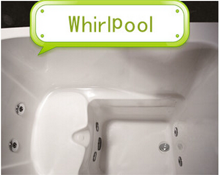 disability bathtubs with non-leakage door with combo massage and seat CWB2652