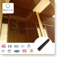 WPC/Wood Plastic Composite Decorative Timber for Wall Decoration or Ceiling Grid of Prefabricated Houses in Rucca 25*25mm