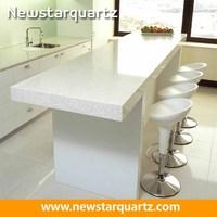 Sparkle Quartz Stone White Kitchen Countertop