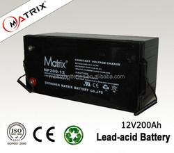 12V 200AH solar deep cycle battery