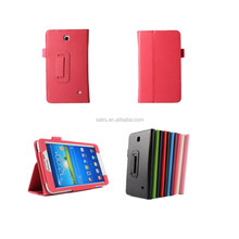 Litchi pattern 7 Inch Tablet leather Case For Samsung Galaxy Tab4 T230 Cases