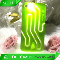 fancy flash light case for iphone 5s , sense flash light led hard case for apple iphone 5 , light up phone case for iphone 5