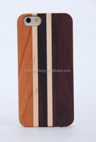 Wooden stripes Durable Mobile Phone case wood cover for phone