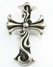 PH038 casting 316l stainless steel jewelry cross designed metal pendant cross pendant charms for Europe market