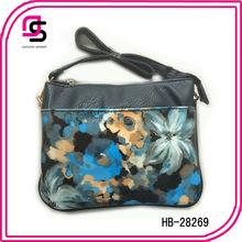 2015 wholesale floral PU shoulder women ladies handbags
