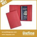 genuino cubierta de cuero del pasaporte