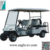 6 seater electric golf cart with flip flop seat -EG2049KSZ, with flip windshield, rain cover, long roof color match body