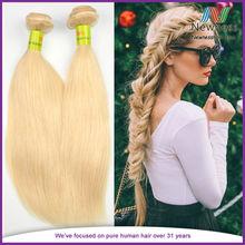 Brazilian virgin hair shiny silky straight gold