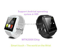 Wearable wrist phone waterproof smart watch android dual sim ce rohs iso android