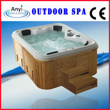 Wooden Skirt Outdoor Morden Massage Bathtub,Outdoor Spa