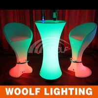 wholesale light up remote controller led cocktail table