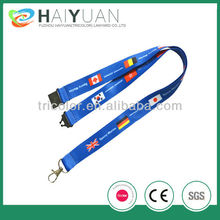 2012 most popular sublimation polyester lanyard with national flags
