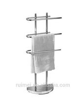 simple factory customized shop standing metal heated towel rack