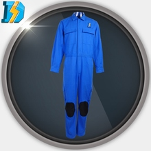 100% polyester coverall with 4 slide pockets fold design at back adjustable cuff