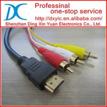 high quality 3 rca male to hdmi male cable