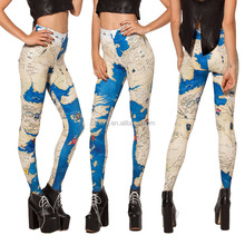 Women Sex Neon Color Multi Crazy Color Smooth Elastic Animals Print Leggings Pants
