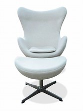 FRP egg chair designed by Arne Jacobsen color options
