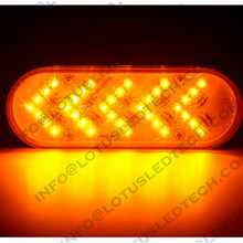6 inch 5 arrow 35 LED Sequential Auxiliary oval led stop turn tail lamp