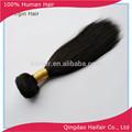 negro natural recta de color de pelo trama 100g por pc de 18 pulgadas negro para las mujeres en venta al por mayor
