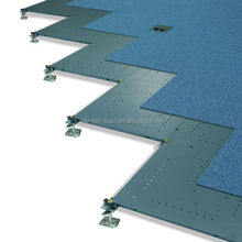50*50cm metal steel panel anti static/anti corrosion/anti-wear/fireproof adjustable pedestal perforated raised floor