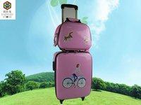 2012 Fashional Children Series Cartoon Pu Trolley Luggage Bag