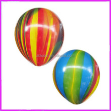 Popular Multicolor Round Rainbow Latex Balloons for patry decoration.