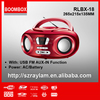 Portable Boombox With Top Loading Single CD/CDR-W and Analog Tuning AM/FM