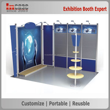 Full color printing fabric promotional display exhibition stand, modular exhibition system booth