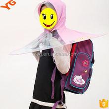 school supply rain hat