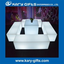 LED NIGHT CLUB LOUNGE CHAIR BRIGHT COLORED BENCH FURNITURE