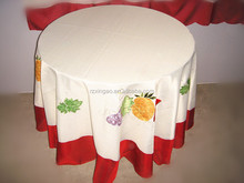 Round embroidery table cloth 2015 hot sell