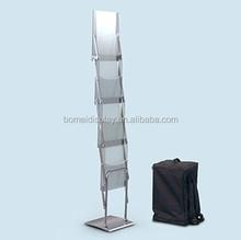 Hotsales acrylic open book display stand,book shelf, magzine catalog
