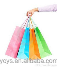 2015 new style hot sale customized recyclable luxury paper foldable shopping bag