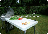 Plastic Fish Cutting Table,sink table,deluxe fillet table