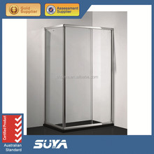 shower cabin for disable sliding door tempered clear glass shower room