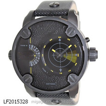 Army Style Mens Wrist Watch Curren Waterproof Quartz Men's Military Genuine PU wrist Watch