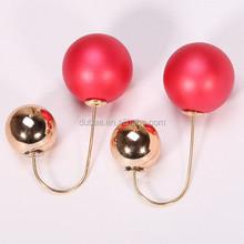 Bijoux Fashion 2016 New Hot Selling Big Size Double Pearl Earrings for Women