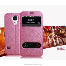 Leather cellphone case/window view flip for NOTE4 N9100