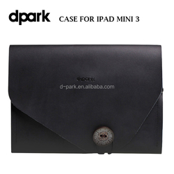 d-park design vintage leather cover case for iPad mini 3 tablet covers and cases manufacturer