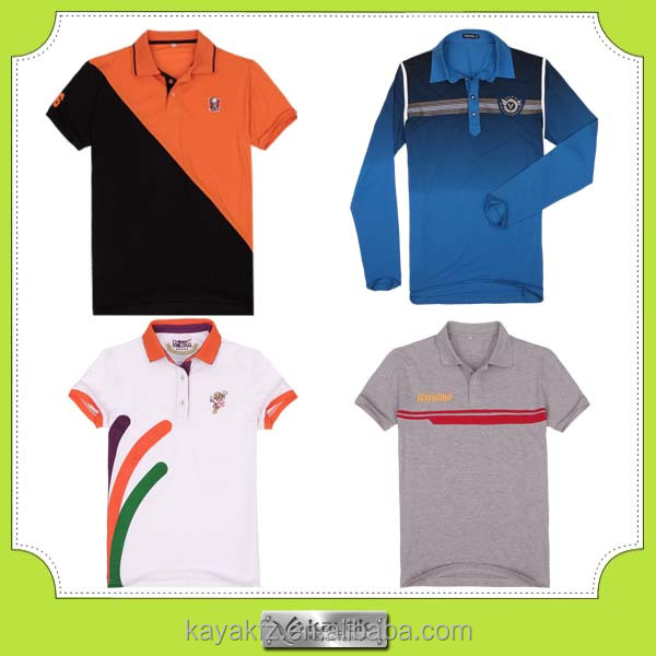 2015 trendy color combination dry fit polo shirt design