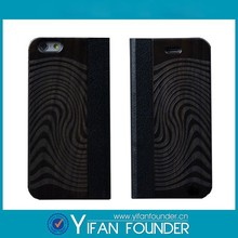 For iPhone 4 5 6 factory price custom leather wooden flip case