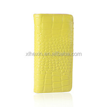 European And American Style Female Zipper Wallet Embossed Crocodile Classic Long Section