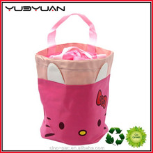 Factory Wholesale High Quality Eco Friendly Insulated Canvas Round Cooler Bag Lunch Bag